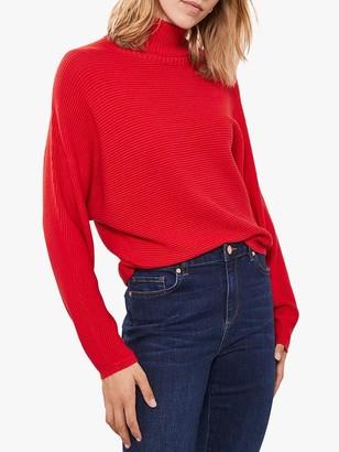 Mint Velvet Chunky Roll Neck Knit, Red