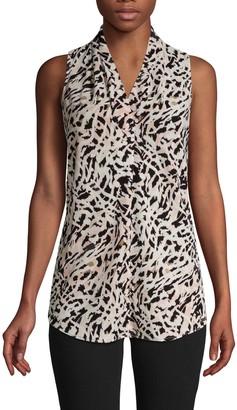 Calvin Klein Sleeveless Print Blouse