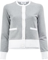 Thom Browne contrast cardigan - women - Cotton - 42