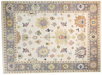 F.J. Kashanian 9'x12' Sari Wool Lisa Rug - Ivory/Gray