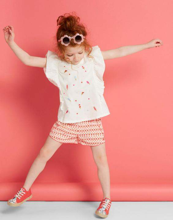 Joules CREAM Saffy Frilled Sleeveless Top 1-6yr Size 4yr