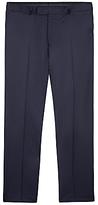 Jaeger Wool Pinstripe Regular Fit Suit Trousers, Navy