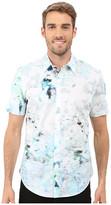 Calvin Klein Short Sleeve Water Print Woven Shirt