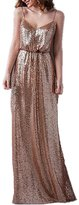 XingMeng Women's Sexy Mermaid Long Sequin Prom Bridesmaid Party Dresses US 26W