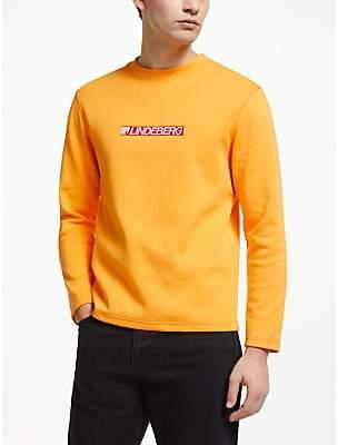 J. Lindeberg Logo Sweatshirt, Cool Peach