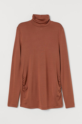 H&M MAMA Jersey polo-neck top