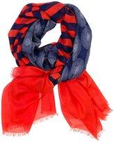 Jonathan Adler Santorini Stripe Oblong Navy and Red