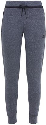 adidas Melange Cotton-blend Jersey Track Pants