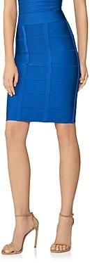 Herve Leger Knee-Length Bandage Knit Skirt