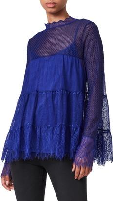 AllSaints Briella Lace Long Sleeve Top