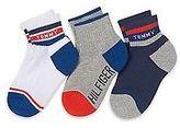 Tommy Hilfiger Big Boy's Quarter Top Socks 3Pk