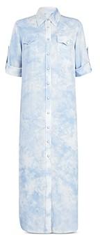 AllSaints Aliza Tie-Dyed Shirtdress