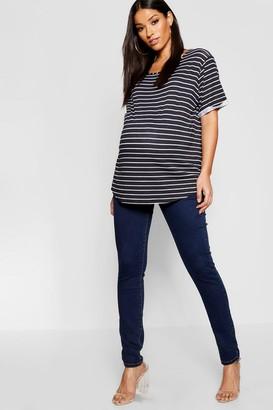 boohoo Maternity Over The Bump Skinny Jean