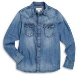 Diesel Little Boy's & Boy's Denim Snap-Front Shirt