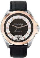 Saint Honore Men's 897045 6NAIR Coloseo Automatic Rose Gold PVD Bezel Leather Watch