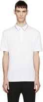 Alexander McQueen White Double Collar Polo