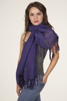 LoveQuotes Scarves Love Quotes Linen Knotted Fringe Scarf in Regale