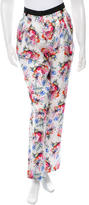 Ungaro Floral Print Straight-Leg Pants