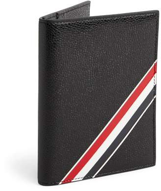 Thom Browne Leather Diagonal Stripe Passport Holder