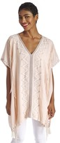 Sole Society Embroidered Caftan With Fringe