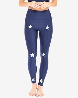 Express Electric Yoga Star Bright High Waisted Legging