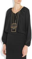 Saint Laurent Opium gold-plated onyx necklace