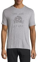 John Varvatos Live & Let Live Skull Graphic T-Shirt, Gray Heather