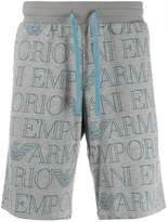 Emporio Armani logo print track shorts