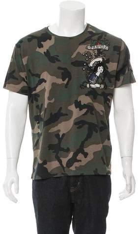 Valentino Embellished Camouflage T-Shirt