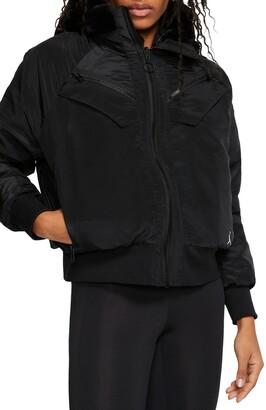 Nike Jordan Reversible Faux Fur Bomber Jacket