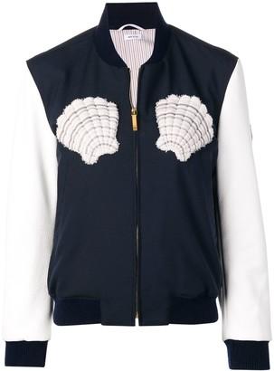 Thom Browne Deerskin Sleeves Varsity Jacket