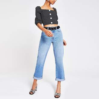 River Island Womens Mid Blue Boyfriend jeans