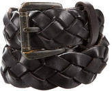 John Varvatos Woven Leather Belt