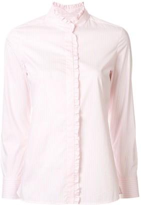 Paule Ka Striped Ruffled Shirt