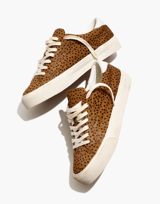 Madewell Sidewalk Low-Top Sneakers in Spot Dot Calf Hair