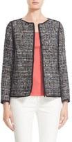 Lafayette 148 New York Women's 'Keaton' Collarless Tweed Jacket