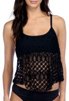 Kenneth Cole Reaction Solid Crochet Tankini