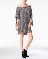 Bar III Printed Off-The-Shoulder Dress, Only at Macy's