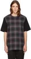 Helmut Lang Black Check Combo T-shirt