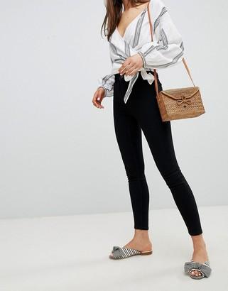 New Look high waist skinny jeans in black