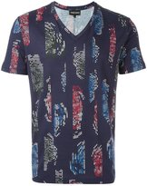 Emporio Armani stylised pattern T-shirt - men - Cotton - M