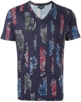 Emporio Armani stylised pattern T-shirt
