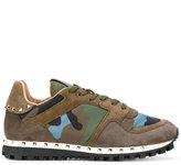 Valentino Garavani Valentino camouflage sneakers - women - Leather/Suede/Nylon/Foam Rubber - 35