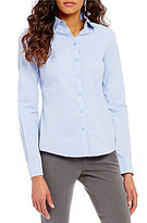 Investments Seamed Button Front Non-Iron Shirt
