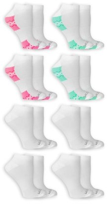 Fruit of the Loom Women's Fit for Me Active 8 Pair No Show Socks