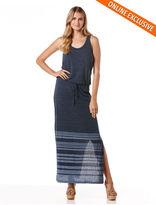 C&C California Printed stripe maxi dress