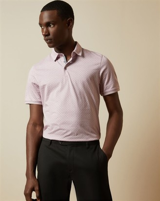Ted Baker Geo Print Polo Top