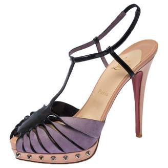 Christian Louboutin Grey Suede Sandals