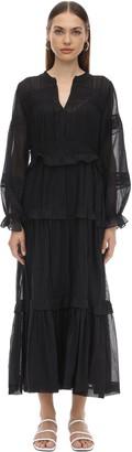 Etoile Isabel Marant Likoya Long Ruffled Cotton Dress