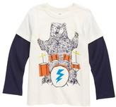 Tea Collection Toddler Boy's Backbeat Bear Layer T-Shirt
